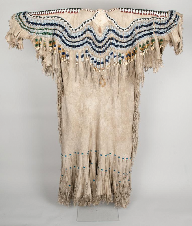 Woman's elk-hide dress from the Spalding-Allen Collection