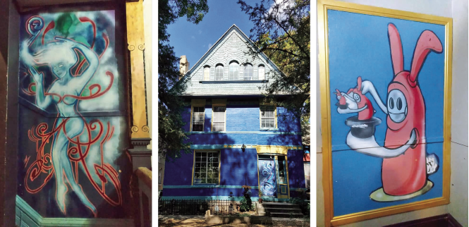 Goodbye, China Blue: Images of an eclectic historic home slated for demolition, one of five included in the Lincoln Street rezoning. - STEPHANIE STANCZAK