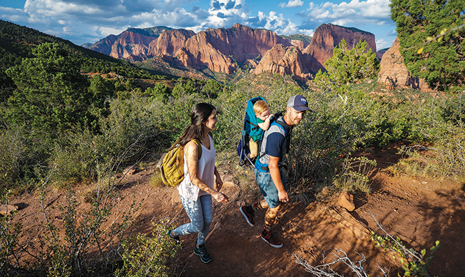 Hiking in Kolob Canyons at Zion National Park - © 2017 MARC PISCOTTY UTAH OFFICE OF TOURISM