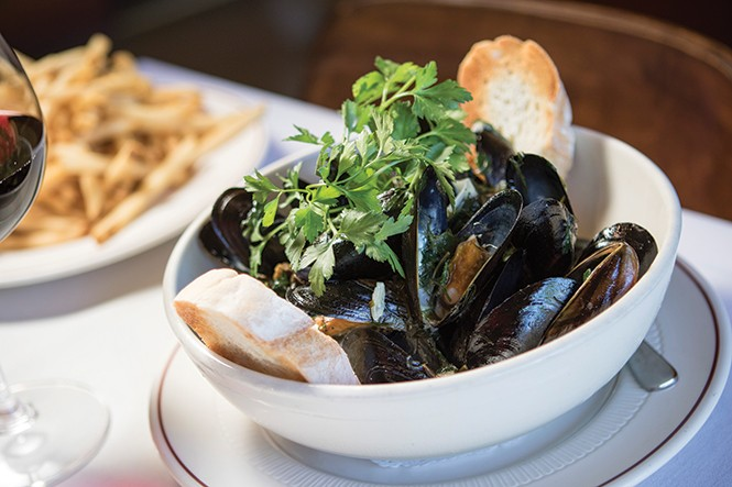 The Paris' moules marinière