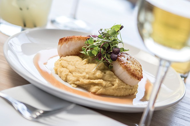 Manoli's Htenia Seared Sea Scallops