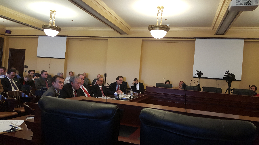 Attorneys for Davillier Law Group present their report to the Legislature. - ERIC ETHINGTON