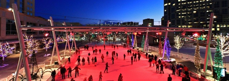 In the heart of downtown: Ice skating at Gallivan Center