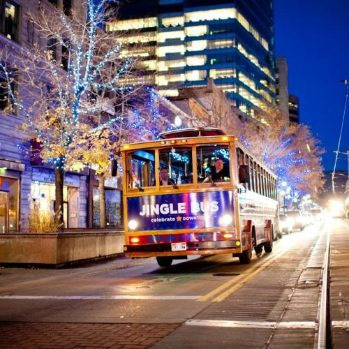 The Jingle Bus loops around downtown through Dec. 28