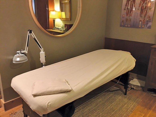 East West's treatment rooms offer patients a serene, calming experience.