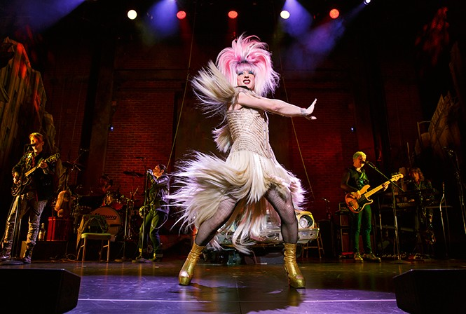 Euan Morton as Hedwig - JOAN MARCUS