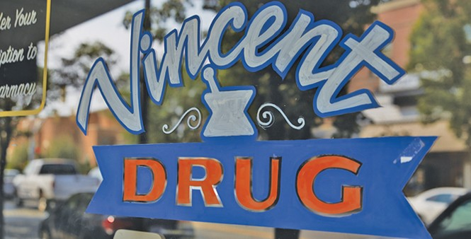 Remembered for its role in The Sandlot, Vincent Drug is literally a shell of its former self - STEVEN VARGO