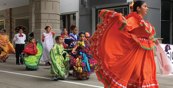 Dancers at the Hispanic Heritage Parade and Street Festival - DW HARRIS