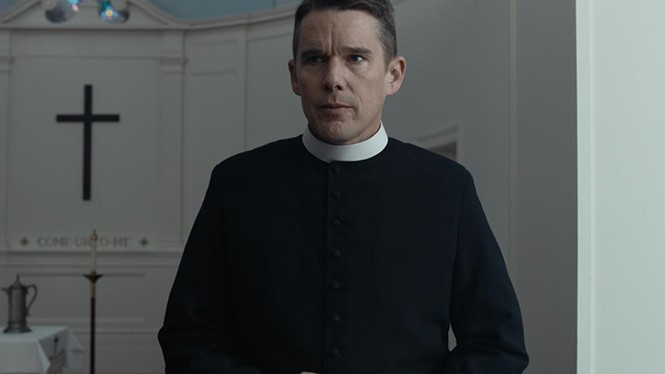 Ethan Hawke in First Reformed - A24 FILMS
