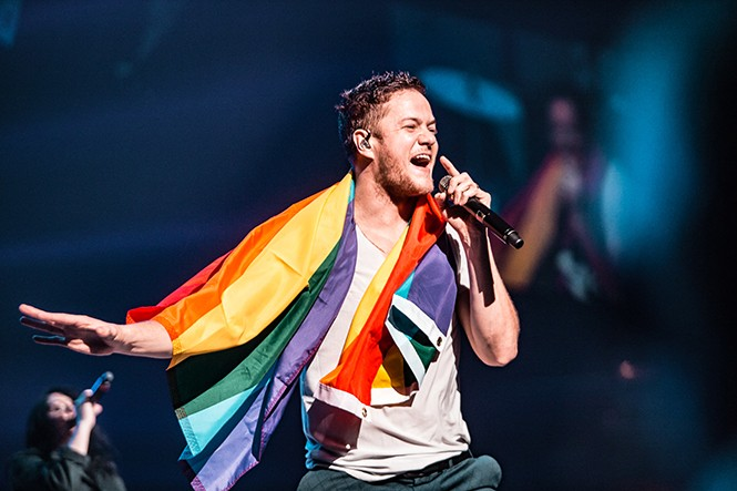Dan Reynolds of Imagine Dragons. - LANCE LOWRY