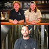 Top: Chad Hopkins and Jordan Schupbach Bottom: Shades Brewing's Trent Farger
