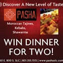 Enter to win dinner for two at Pasha