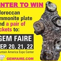 Enter to win a Moroccan Ammonite Plate from the Gem Faire!
