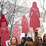 Native American Women March