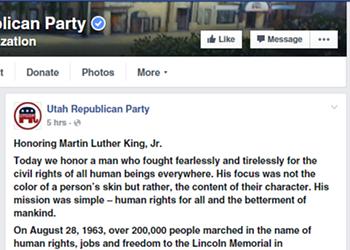 Utah Republican Has Moment of Sanity