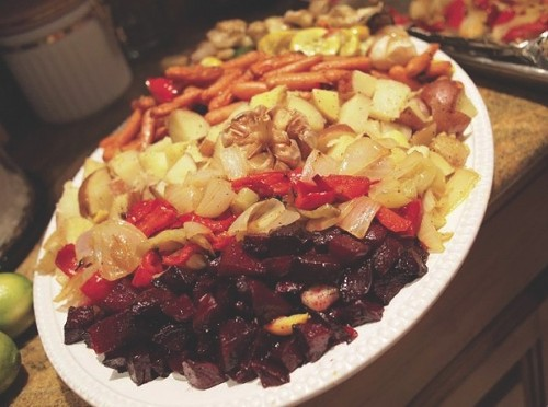 Urban Pioneer Foods' roasted-veggie platter