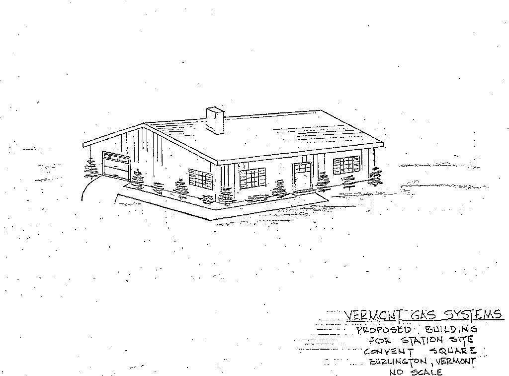 1970 proposal for the gate station - COURTESY OF CITY OF BURLINGTON
