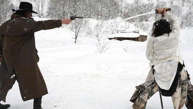 A battle in the snow in the Yuta Valley in Sukiyaki Western Django - FIRST LOOK INTERNATIONAL