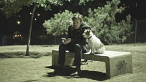 A BOY AND HIS DOG McGregor practices his rudimentary relationship skills on his dad's Jack Russell in Mills' moody sort-of-comedy.