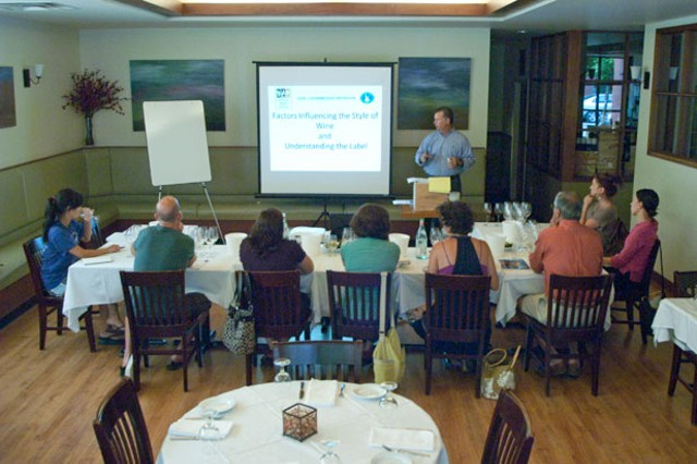 A class at Vermont Wine School