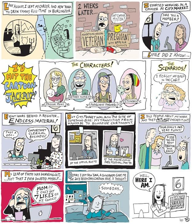 Cashier Cartoons: A Comic Cashier At City Market