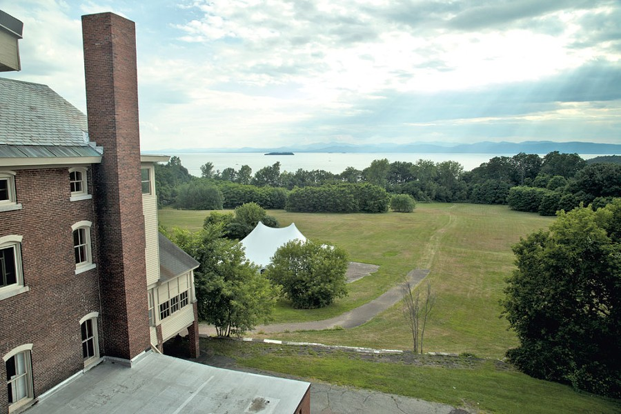 A fraction of the vast property owned by Burlington College - MATTHEW THORSEN