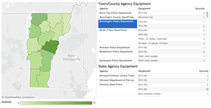 Explore the military gear in your community with our interactive database.