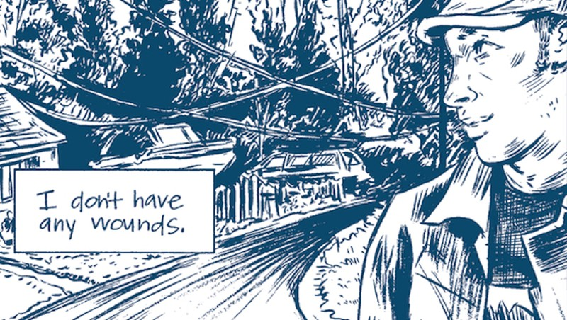 A panel from Jess Ruliffson's comic Invisible Wounds