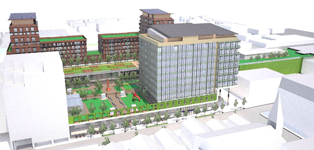 A rendering of the project - IMAGE COURTESY BURLINGTON CEDO
