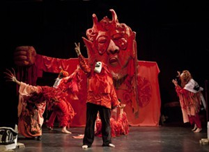 A scene in Birdcatcher in Hell - COURTESY OF BREAD AND PUPPET THEATER
