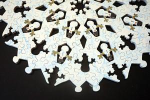 A snowman puzzle