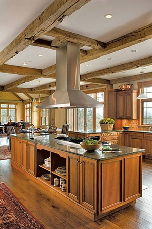 A South Londonderry kitchen featuring cherry cabinetry - COURTESY OF WENDY JOHNSON, DESIGNS FOR LIVING