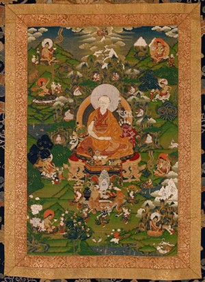 COURTESY OF THE MIDDLEBURY COLLEGE MUSEUM OF ART - A thangka depicting the 7th Dalai Lama