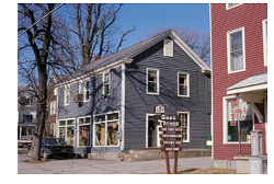 All Good Things, the health food store owned by Robert Durst in 1971 and 1972, was in the red building on the right. - MIDDLEBURY POLICE