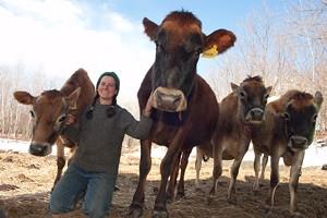 MATTHEW THORSEN - Amanda Andrews and her cows