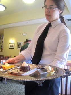 Amanda Geil with the dessert tray