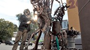 An 18-Foot Metal Totem Rises to Greet Art Hoppers