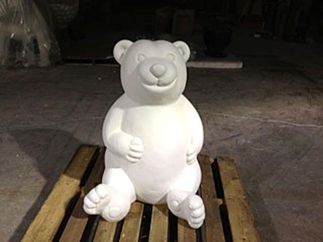 """An undecorated bear for """"Burlington Bears Its Art"""""""