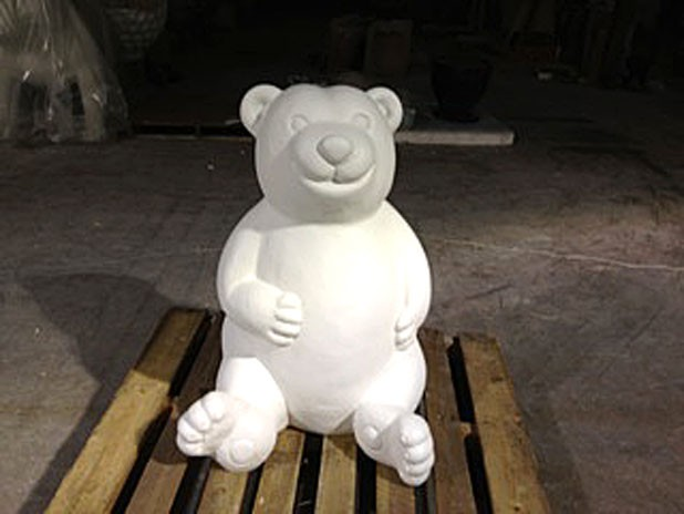 "An undecorated bear for ""Burlington Bears Its Art"""