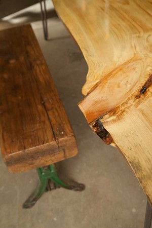 MATTHEW THORSEN - An upcycled table and bench