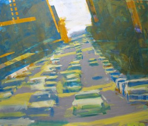 """COURTESY OF VERMONT STUDIO CENTER - """"8th Avenue North,"""" oil painting by David Kapp"""
