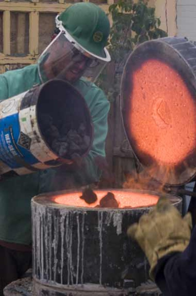 Artists strike while the iron is hot