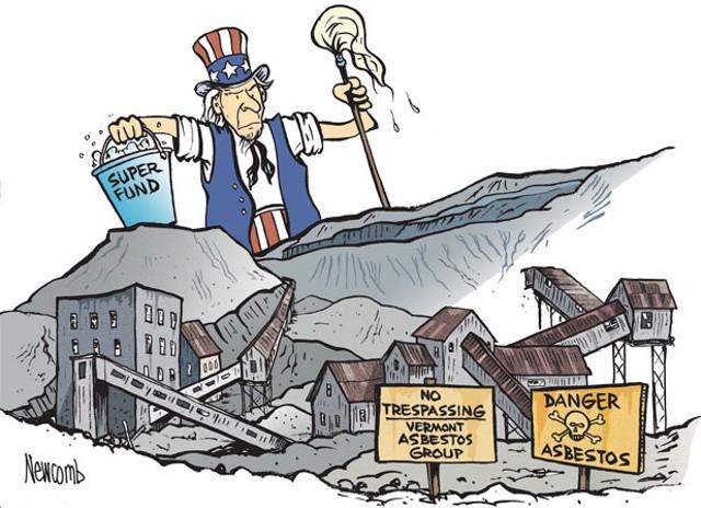 asbestos illustration