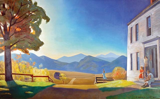 """Asgaard Landscape Mirror"""