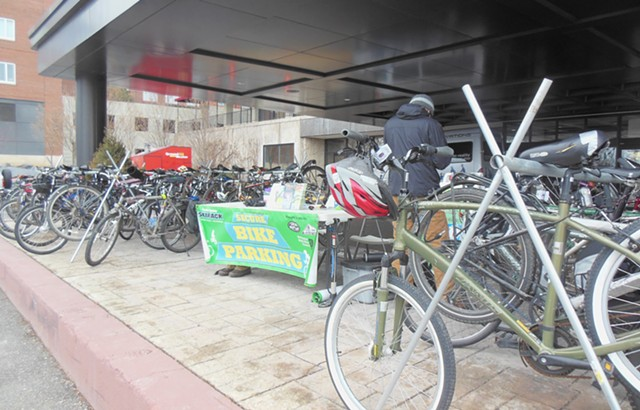 At Burlington's walk/bike summit on Saturday - PHOTO: KEVIN J. KELLEY
