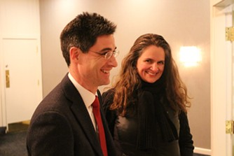 Necrason Group lobbyists Adam Necrason and Rebecca Ramos - PAUL HEINTZ