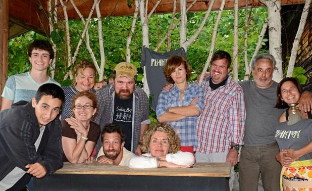 Back, from left: Asher Sinaiko, Pamela Rickard, Jeffy Carey, Jeanne Darst, David Gammons, David Sinaiko, Annie Elias; front, from left: Eli Sinaiko, Tracy Martin, Ben Schneider, Cat Carr