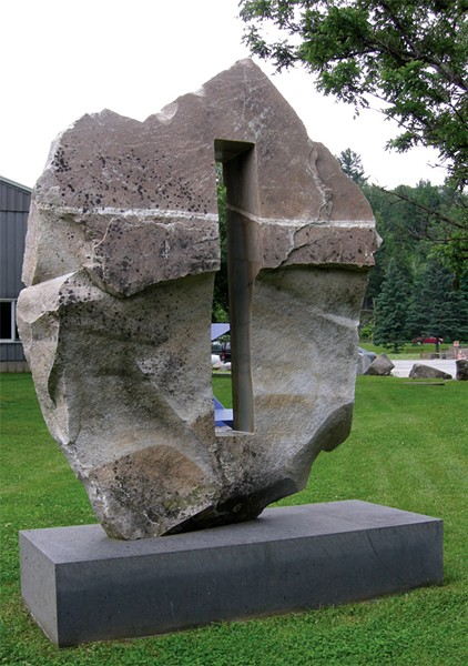 """Balance"" by Chris Curtis, outside of Stowe Family Practice - COURTESY OF WEST BRANCH GALLERY & SCULPTURE PARK"