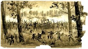 """""""Battle Two Miles West of Atlanta, 1864"""" by John Hillen"""