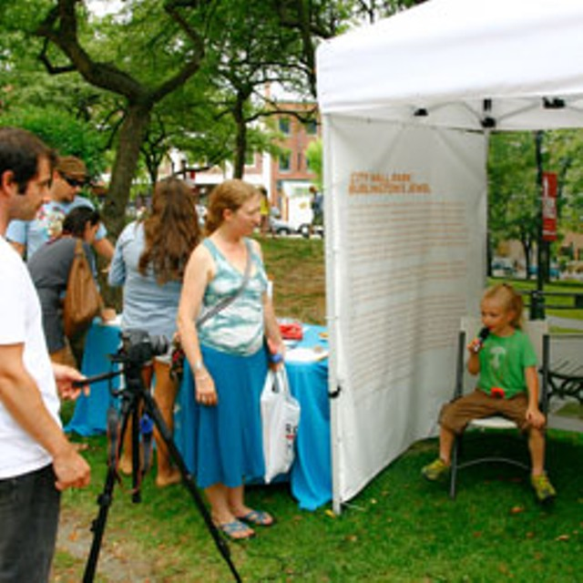 "BCA's ""Imagine City Hall Park"" booth"